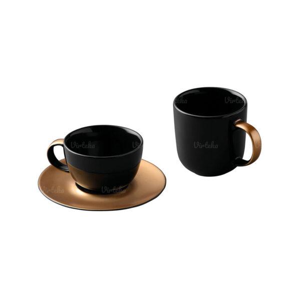 Kavos ir arbatos rinkinys Black and Gold 1698006
